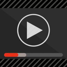 cinema, film, movie, play, player, start, video icon