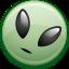 alien, smiley icon