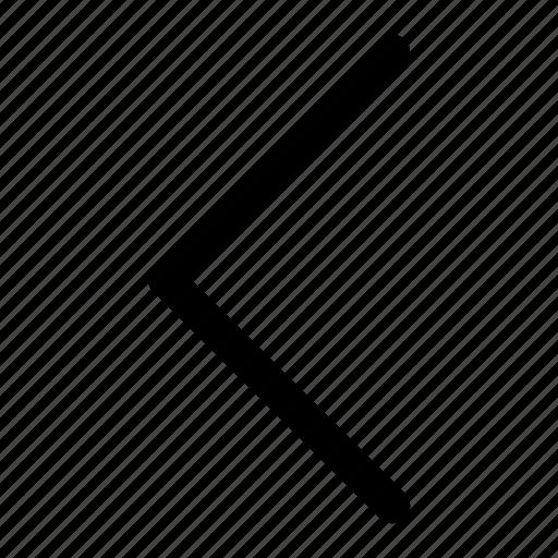 arrow, chevron, direction, left, navigation icon
