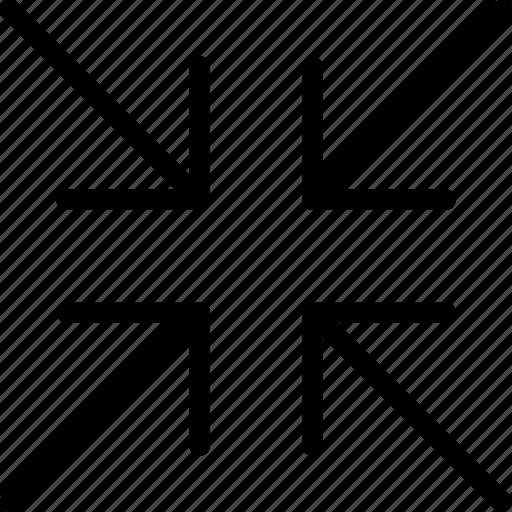arrow, arrows, direction, minimize, navigation, orientation, original icon