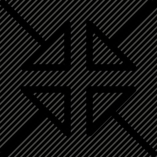 arrow, arrows, direction, minimize, navigation, orientation icon