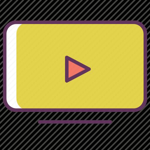 display, media, play, smart tv, television, tv, video icon