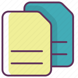 copy, documents, duplicate, files icon