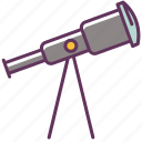 astronomy, binocular, glass, sky, stargazing, stars, telescope icon