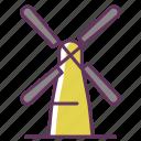 bakery, bread, grain, mill, wind, windmill, windy