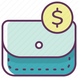 buy, cash, dollar, finance, money, pouch, wallet icon