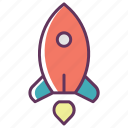 marketing, planet, rocker, space, spaceship, star, starup