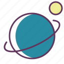 ecuator, moon, orbit, satellite, sputnik icon