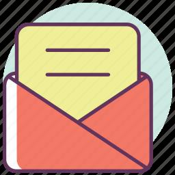 communication, envelope, letter, mail, message, post, send icon