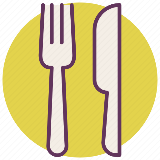 eat, food, fork, knife, location, navigation, restaurant icon