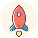 marketing, planet, rocker, space, spaceship, star, starup icon