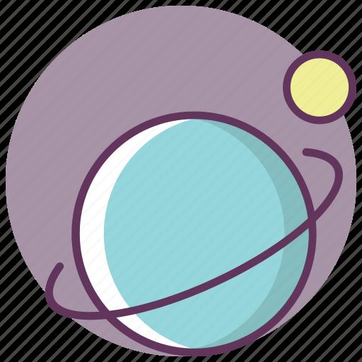 ecuator, moon, orbit, satellite, sputnik icon