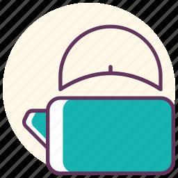 caldron, kettle, kitchen, object, tea, teapot, water icon