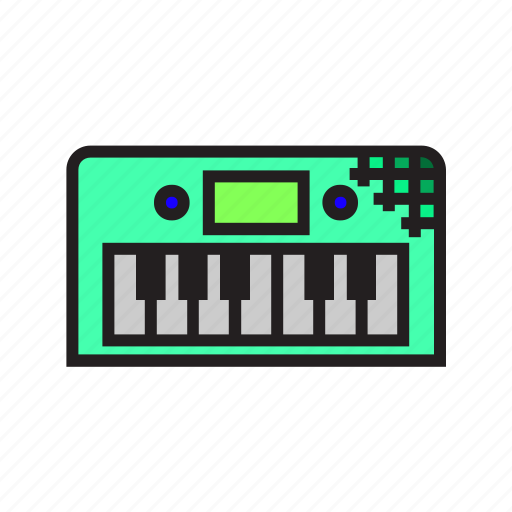 electronic, instrument, piano icon