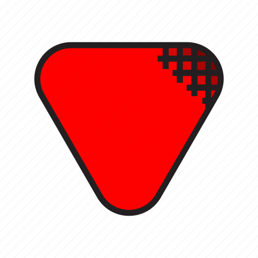 guitar, pick, red icon