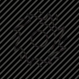 blades, cutter, line blades icon