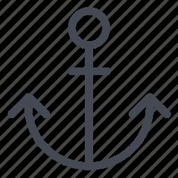 anchor, fix, ship, stop icon