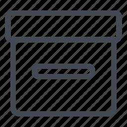 archive, box, documents, stock, storage icon