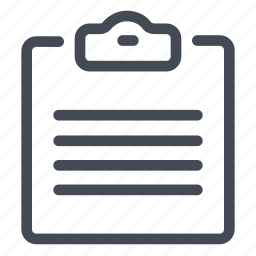 clipboard, document, notes, paper, read, text, write icon