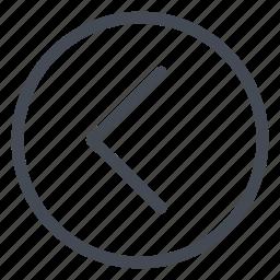 arrow, direction, expand, left, navigation icon