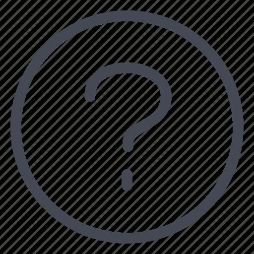 doubt, help, interrogation, question icon