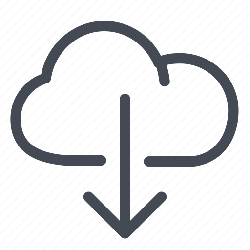cloud, data, documents, download, files, storage icon