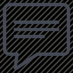 article, comment, publication, write icon