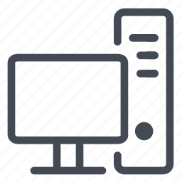 central, computer, home, office, processor, unit, workstation icon