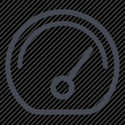 arrow, dashboard, gauge, indicator, speed icon