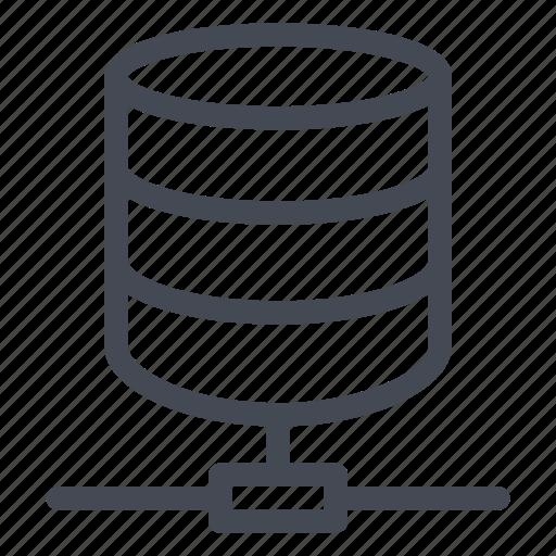 data, database, documents, files, network, storage icon