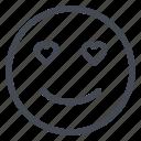 emoticon, hearts, joy, love, smile, smiley