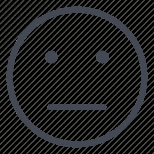 emoticon, face, mitigated, mixed, neutral, smiley icon