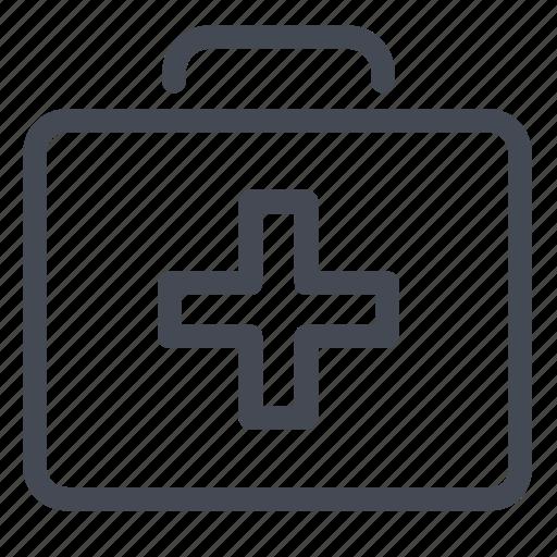 aid, first, heal, health, injury, kit icon