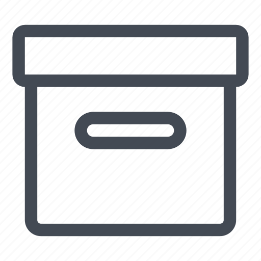 archive, box, data, documents, files, information, storage icon