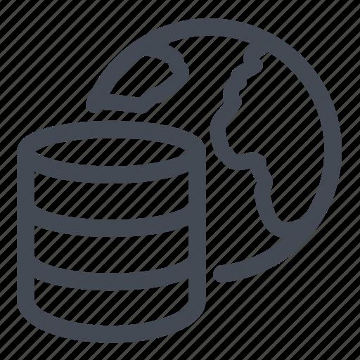 big, data, database, earth, information, world icon