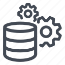 big, compute, computing, data, database, gears icon