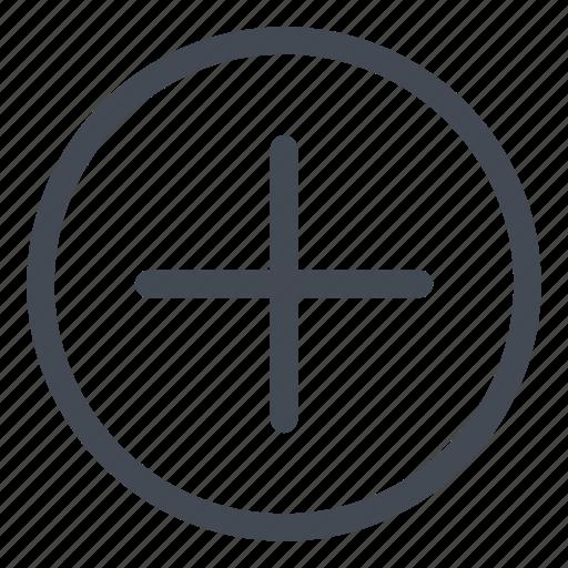 add, circle, line, plus icon