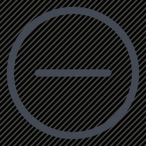 circle, line, minus, remove icon