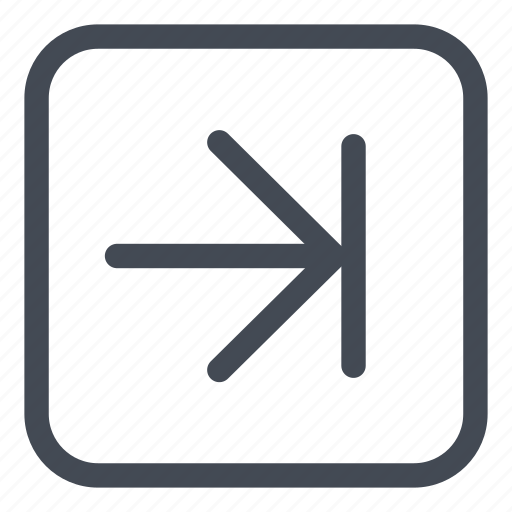 arrow, browse, last, line, rounded icon