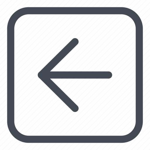 arrow, browse, direction, left, line, rounded icon