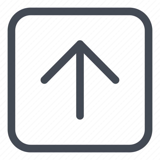 arrow, browse, direction, line, rounded, up icon
