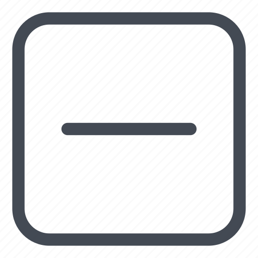 line, minus, remove, rounded icon