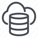 cloud, data, database, information, line, storage icon