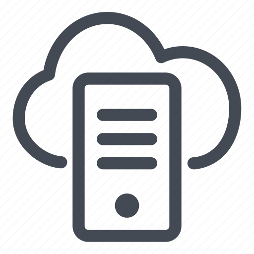 cloud, connected, connection, line, server icon