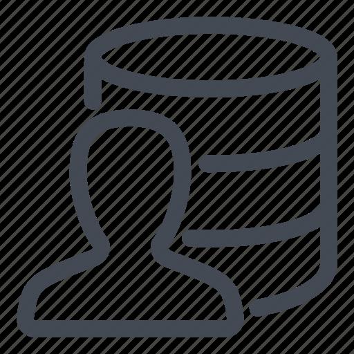 admin, administrator, data, database, line icon
