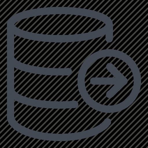 data, database, export, information, line icon