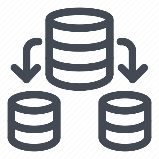 data, database, information, line, split icon