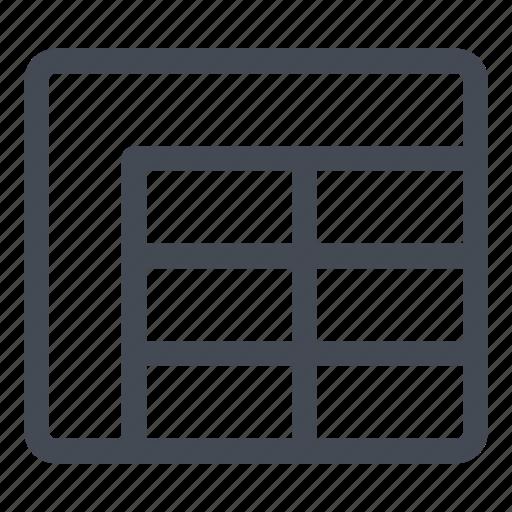 cells, datasheet, information, line, new icon
