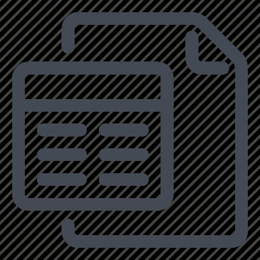 document, line, query icon