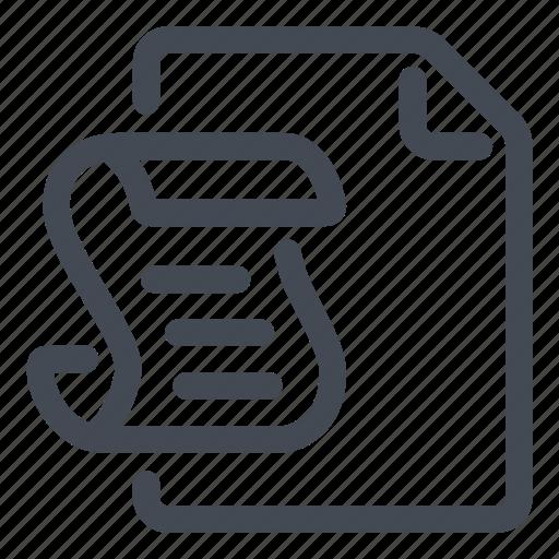 document, line, script icon